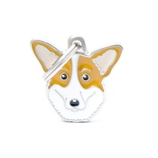 My Family - Welsh Corgi Engraved ID Tag