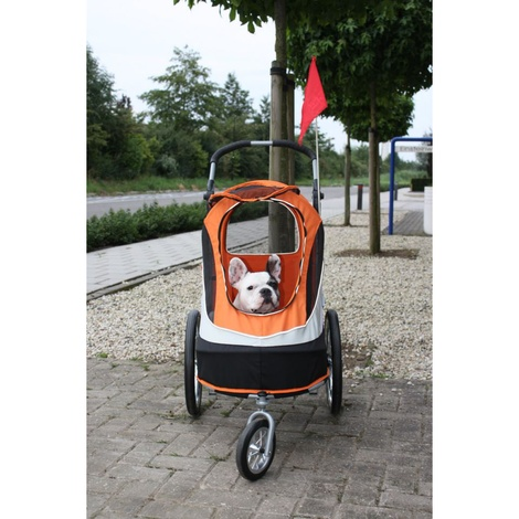Orange/Black Sporty Dog Buggy & Trailer 3