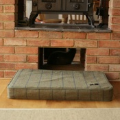 Hunt & Wilson - Memory Foam Tweed Dog Bed – Sage