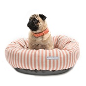 Mutts & Hounds - Orange Stripe Donut Dog Bed
