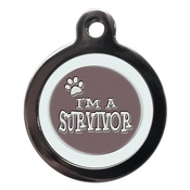 PS Pet Tags - Boy I'm A Survivor Pet ID Tag