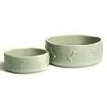 Ceramic Dog Bowl - Sage Green