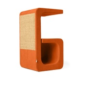 Catworks - Scratching Post - Letter G - Orange