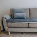 Lustre Velvet Sofa Topper - Slate