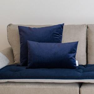 Velvet Scatter Cushion - Ink