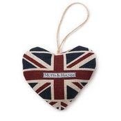 Mutts & Hounds - Union Jack Linen Lavender Heart