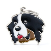 My Family - Bernese Mountain Dog Engraved ID Tag