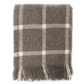 Slate Windowpane Wool Blanket