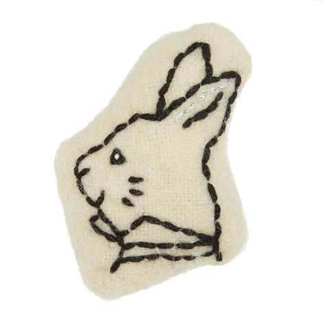 Wonderland Collection Catnip Toy – White Rabbit