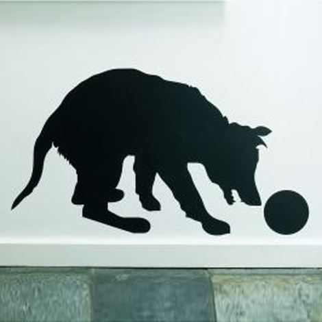 Dog With Ball Wall Sticker 2