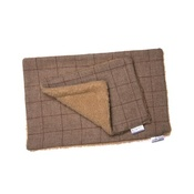 Minkeys Tweed - Barnaby Luxury Tweed & Fleece Blanket