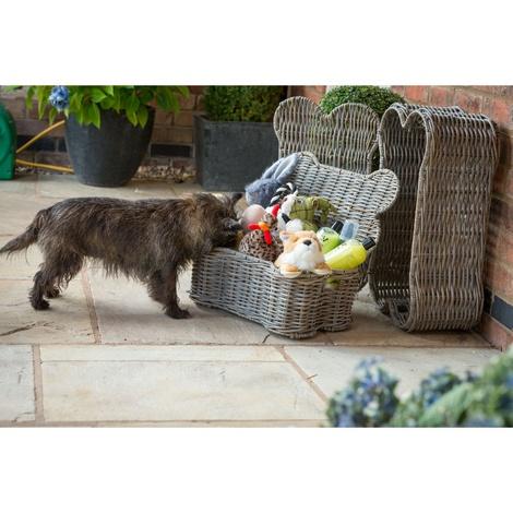 Rattan Kubu Bone Lidded Storage Dog Basket 2