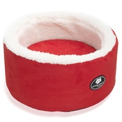 Cool Dog Club - Cool Cat Snuggle & Snooze Pet Cat Bed in Red