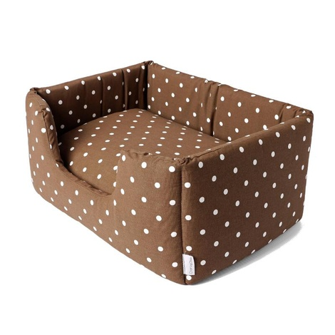 Deeply Dishy Luxury Dog Bed - Dotty Chocolate 2