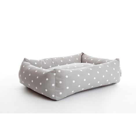 Dotty Smoke Lounge Dog Bed 2