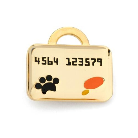 Gold Credit Card Dog Tag