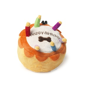 Birthday Cake Squeaky Dog Toy