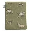 Dogs Linen Tablet Case - Green 2