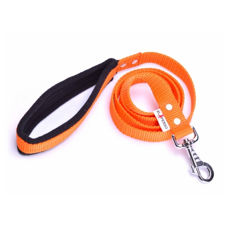 Fleece Comfort Dog Lead – Orange