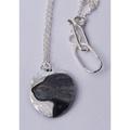 Silver Labrador Cameo Necklace