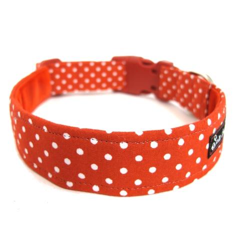 Salt Dog Studio Red Polka Dot Dolly Dog Collar 2