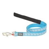 Ziggy Reflective Dog Lead – Turquoise