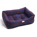 Royal Blue & Red Tartan Dog Bed