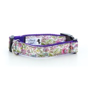 "Pet Pooch Boutique - Lavender Rose Dog Collar 1"" Width"