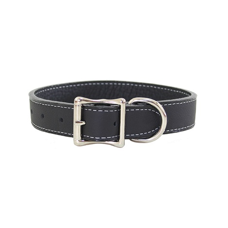 Tuscany Leather Dog Collar – Black