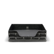 Diva Dog - Rectangular Black Crocodile Lounge Bed