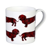 The Graduate Collection - Dachshund Mug - Red