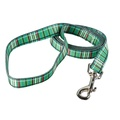 Tartan Plaid Dog Lead – Green