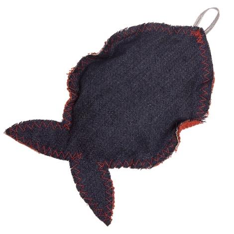 Fat Catnip Fish - Red Denim