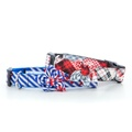 Patchwork Tartan Collar with Flower Accessory 3