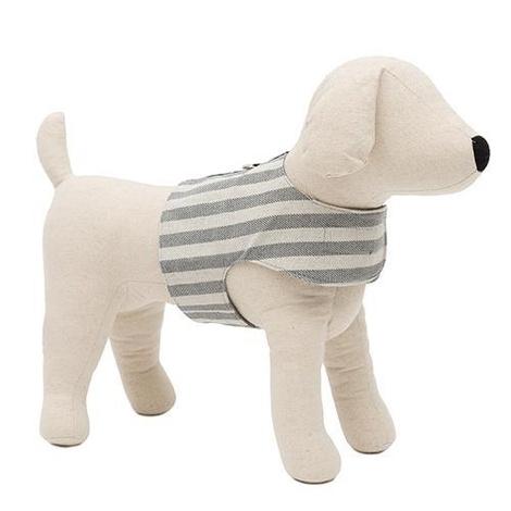 Flint Stripe Brushed Cotton Dog Harness 2