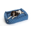 Dotty Denim Lounge Dog Bed
