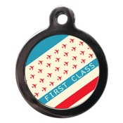 PS Pet Tags - First Class Stripe Pet ID Tag