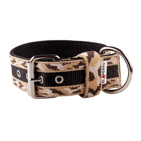 Camouflage Kennel Dog Collar - Safari