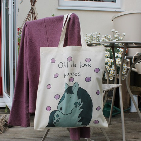 Ponies Shopper Bag  2