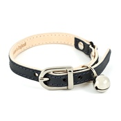 Linny - Slate Leather Cat Collar