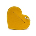 Leather Heart Poo Pouch – Acacia Yellow 2