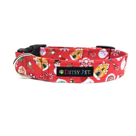 Jolly Christmas Clasp Dog Collar