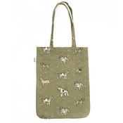 Mutts & Hounds - Dogs Linen Tote Bag - Green