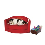 Katalin zu Windischgraetz - All-Round Ruby Red Dog Sofa