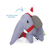 Beco Pets - Estella the Elephant Squeaky Christmas Dog Toy
