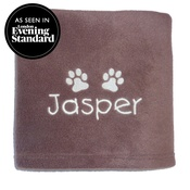 My Posh Paws - Personalised Fleece Blanket - Milk Chocolate