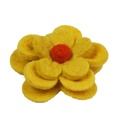 Bloom Dog Collar Flower Accessory - Yellow & Amber 3