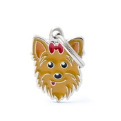My Family - Yorkshire Terrier Engraved ID Tag