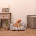 Flint Stripe Brushed Cotton Boxy Bed  2