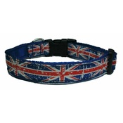 Woof and Meow - Union Jack Dog Collar